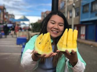 Yellow melon in Juliaca