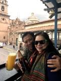 Jugo de maracuya ft my parents in Cusco