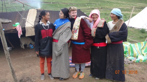 Summer 2016 with my nomadic host family in Tibet, China