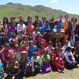 The nomadic community gathering for our group's farewell celebration.